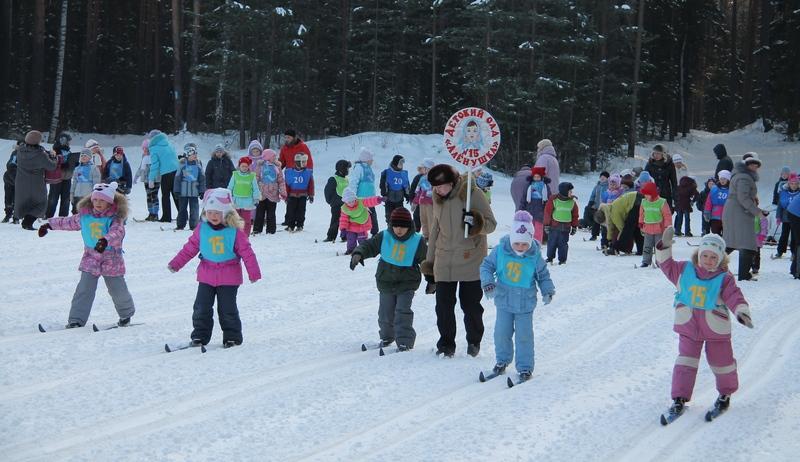 Первые метры на лыжне