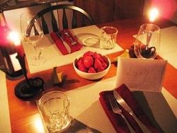 ужин, на глазок, романтический ужин