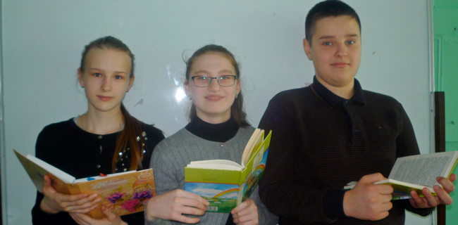 Ольга Комарова, Семён Скибо и Дарья Лужбина.