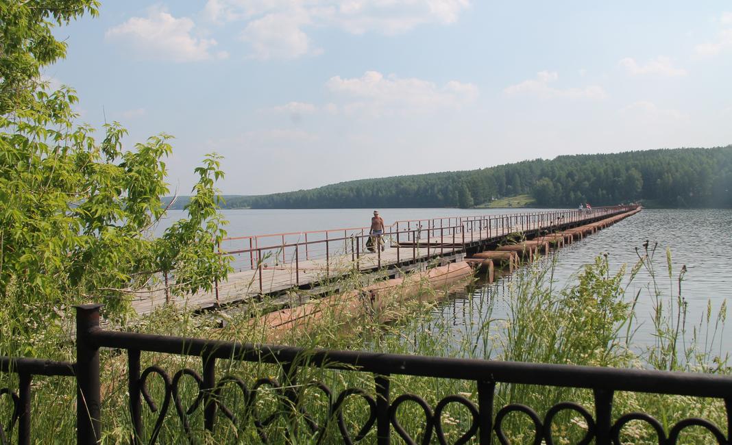 мост, лето, пруд