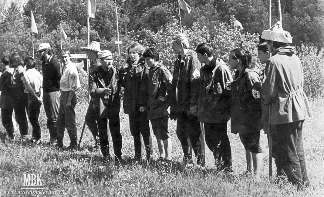 Команда Строитель городской турслет, 1970