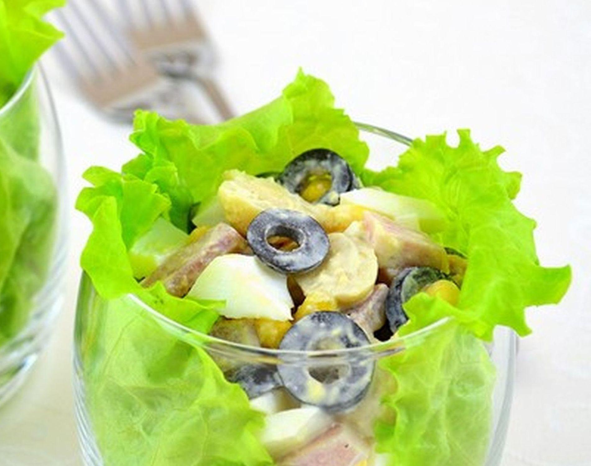 Салат в креманках с пошаговым фото