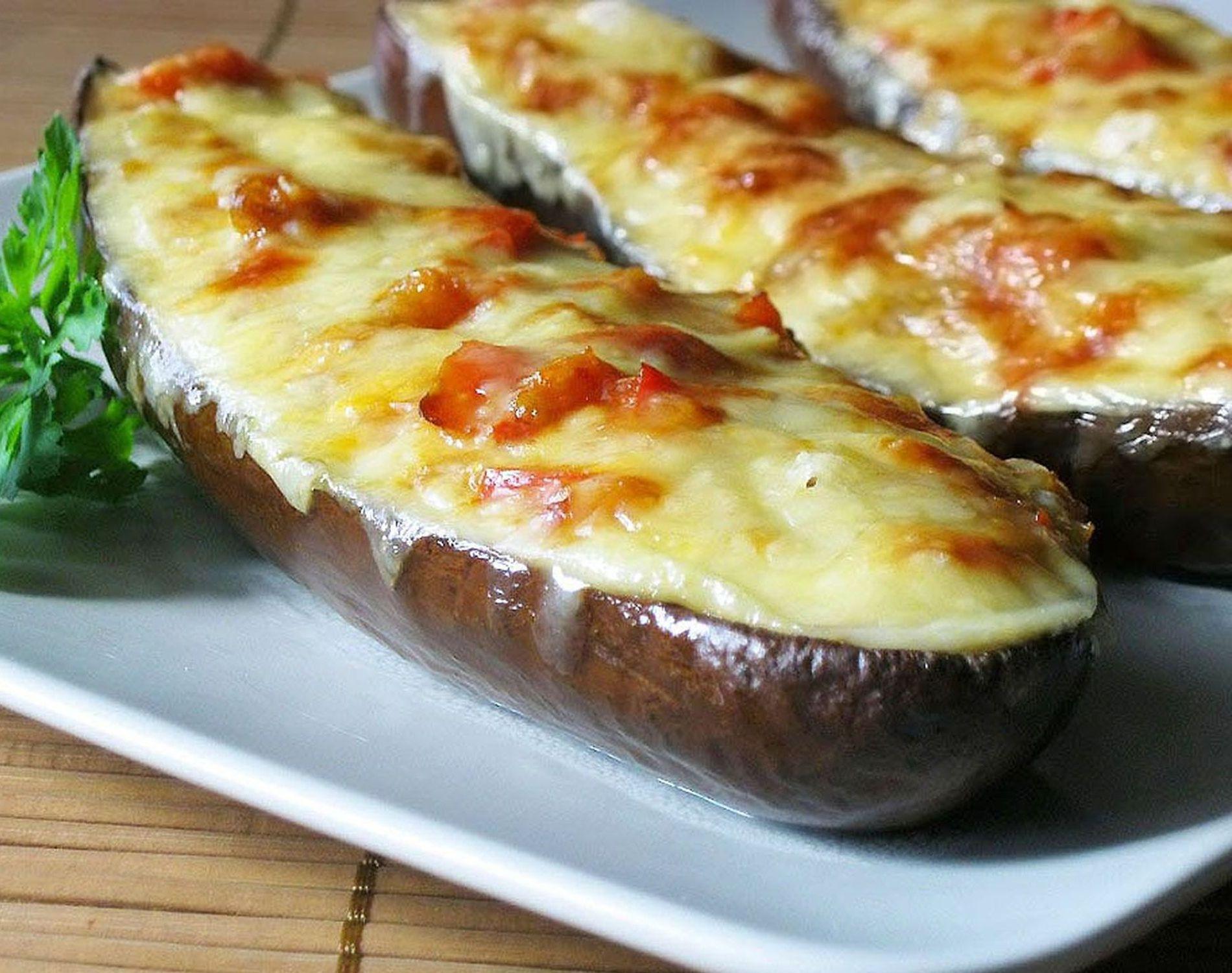 Лодочки из баклажанов в духовке с сыром рецепт пошагово