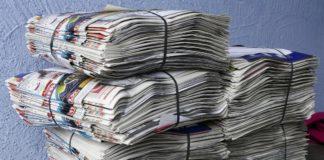 макулатура, газеты, бумага