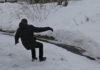 гололёд, весна, снег