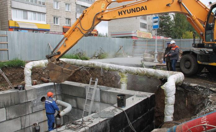 ремонт трубопровода ул. Ленина, РТС