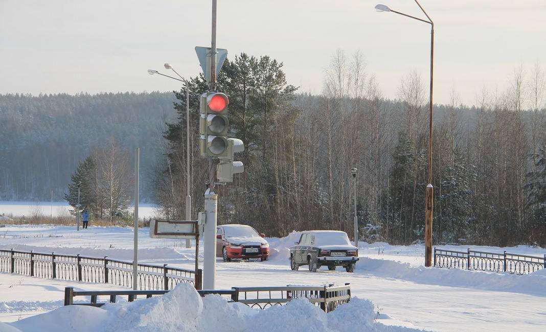 светофор Ленина-Васильева, зима