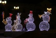 Новый год, снеговики, украшения