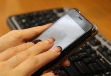 телефон, руки, клавиатура, маникюр