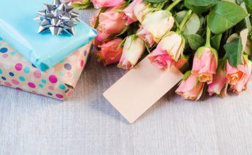 подарок, цветы, букет, день рождения, юбилей