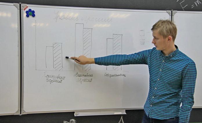 Михаил Горюнов наглядно продемонстрировал результаты проведённого анкетирования