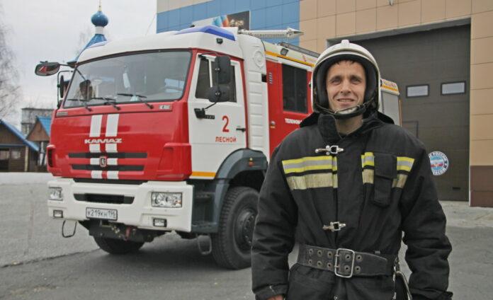 пожарный А. Черных